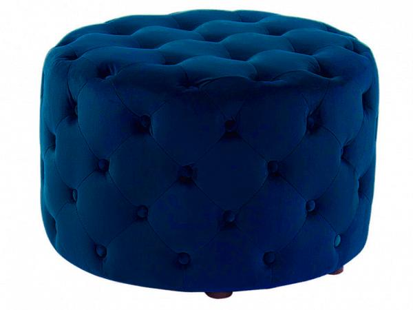 Ottoman deep blue velvet