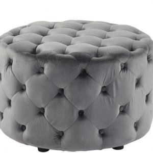 Ottoman grey velvet