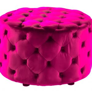 Ottoman pink velvet
